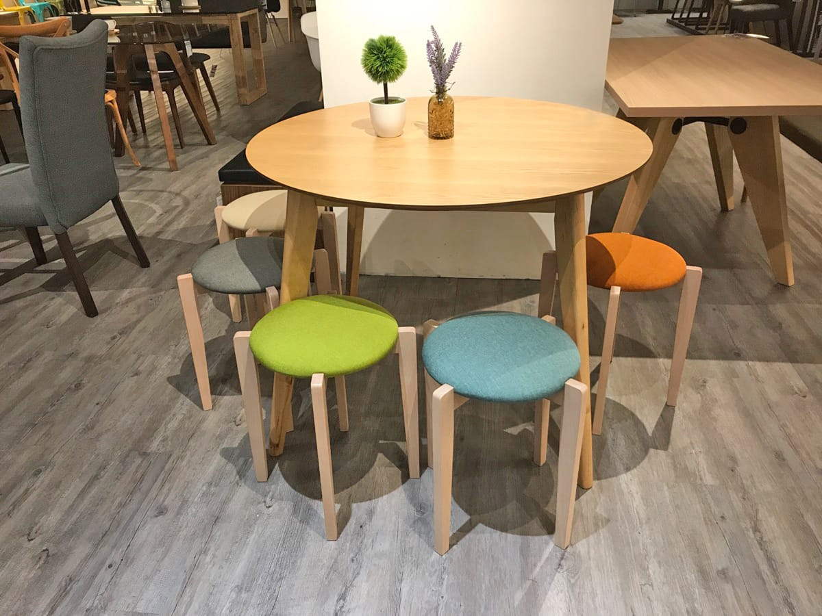 Match with [Oakland Round Dining Table – Natural]