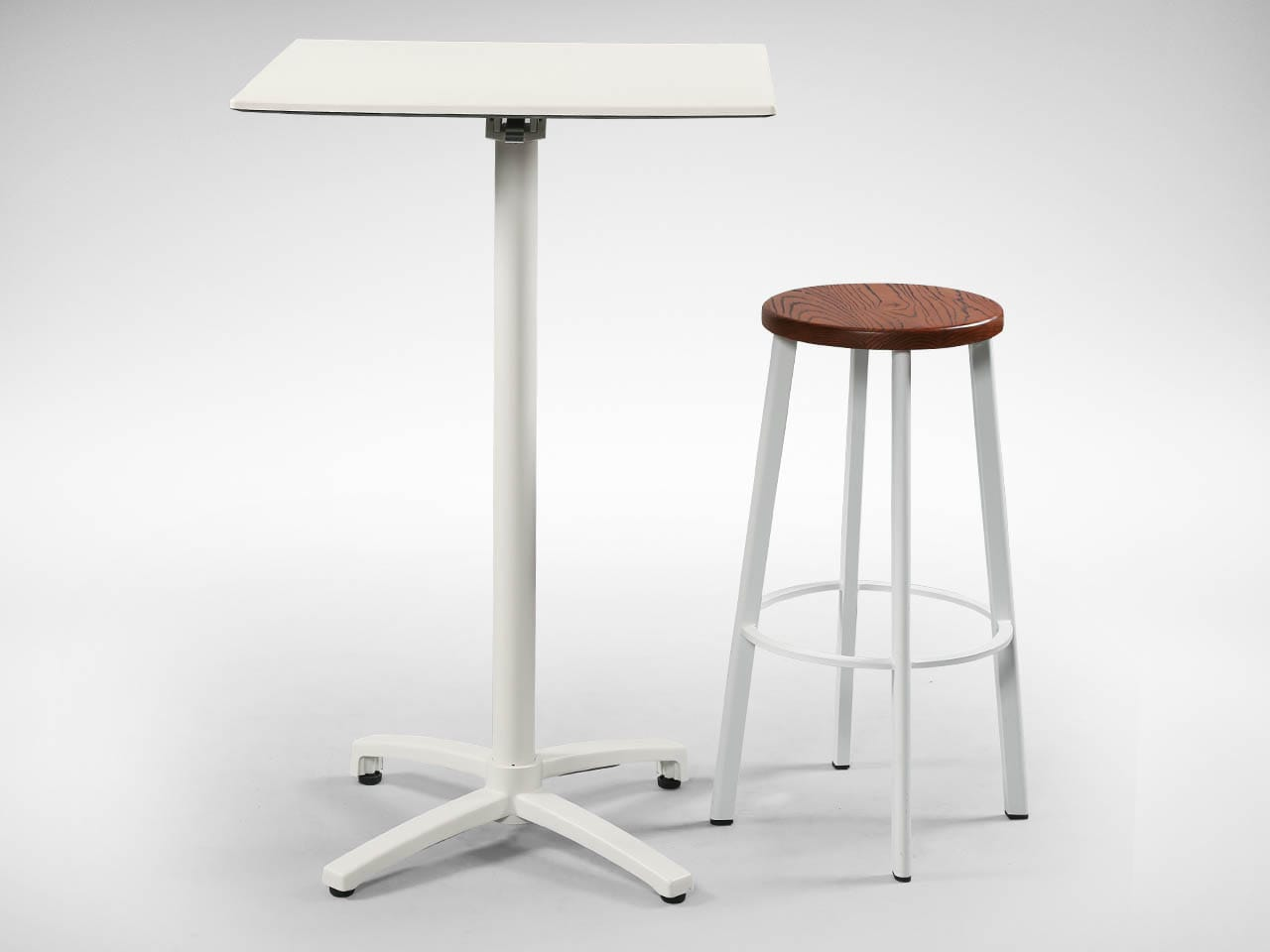 [Toyo Barstool - Wood + Epoxy & Grit 4PFoldable Bartable H1080]<br />