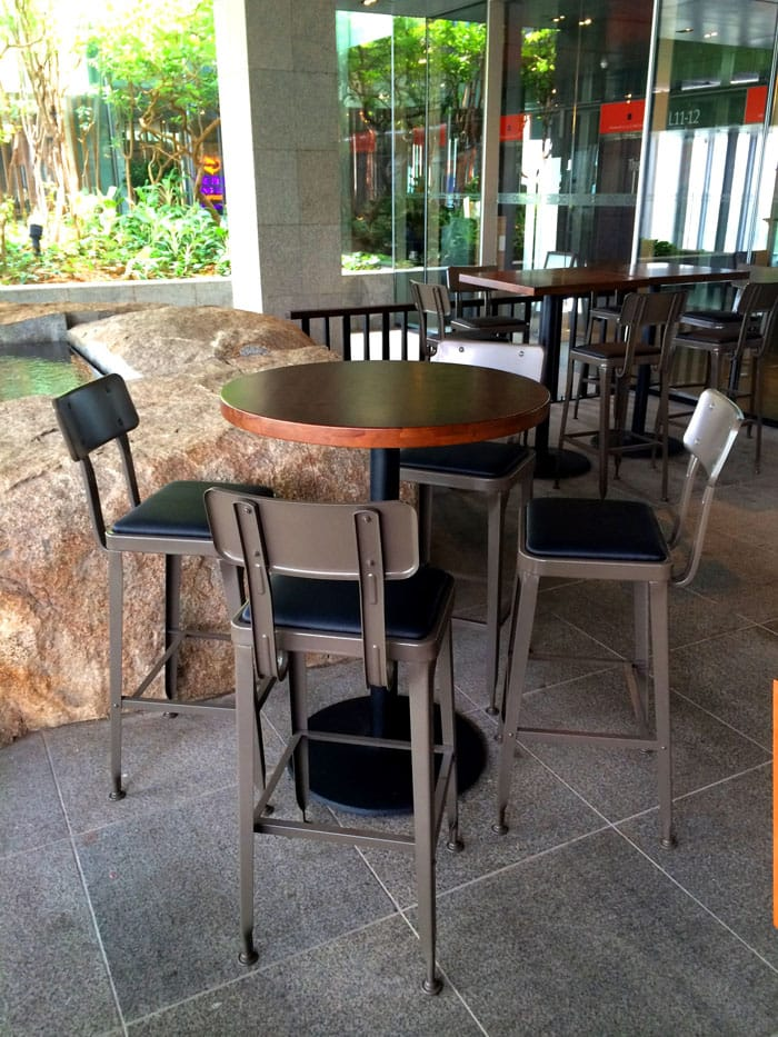 BWB (Burger VS Wings + Bar) - Orchard Central | Product Seen: [Lick Barchair, Butcher Block Top and Cosson High Base]<br />