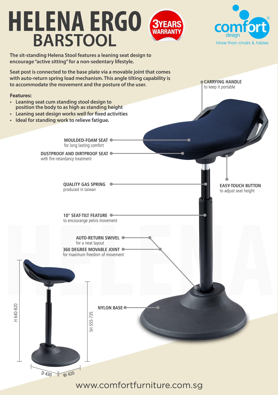 helena ergo barstool comfort design the chair table. Black Bedroom Furniture Sets. Home Design Ideas
