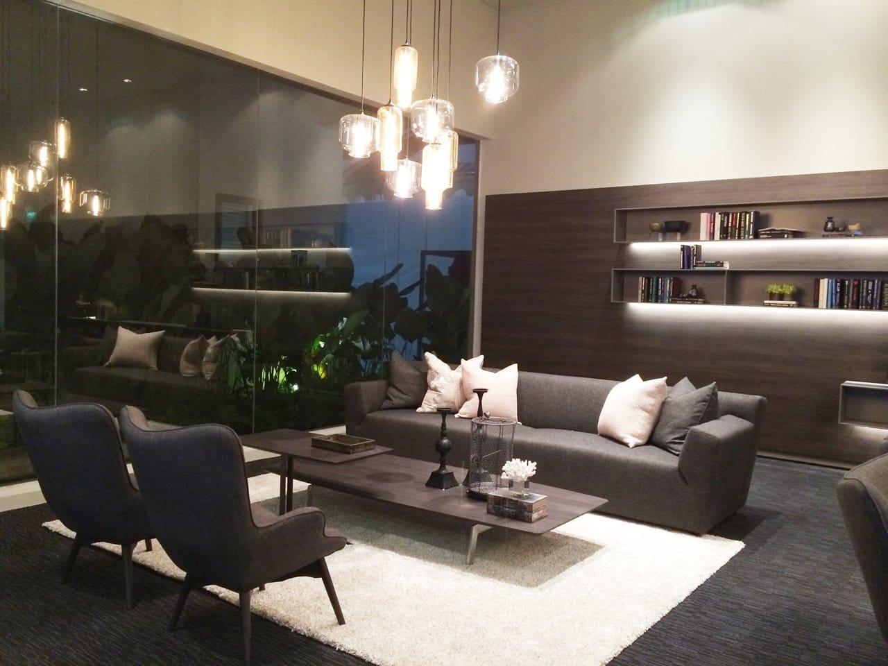 Bellewaters Sales Gallery - Anchorvale | Products seen: [Light Hang NM Series - Pharos &amp; Oculo &amp; Brandy Lounge Set]<br />