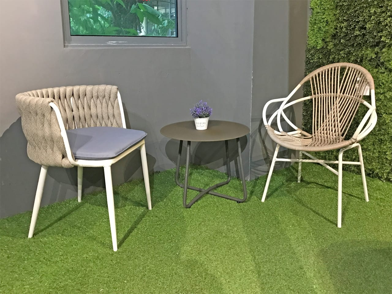 [Santori Coffee Table, Bali Armchair & Webster Outdoor Armchair]