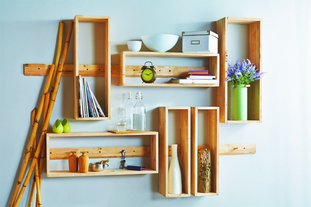 wall furniture shelves. Aziz Wall Shelf \u2013 3 Rectangles Furniture Shelves