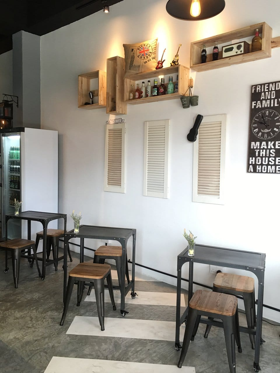 Abbey Bakery - Siglap | Products Seen: [Dojo Low Stool, Aziz Wall Shelves - 3 Rectangles & Aziz Wall Shelves - 3 Squares]<br />