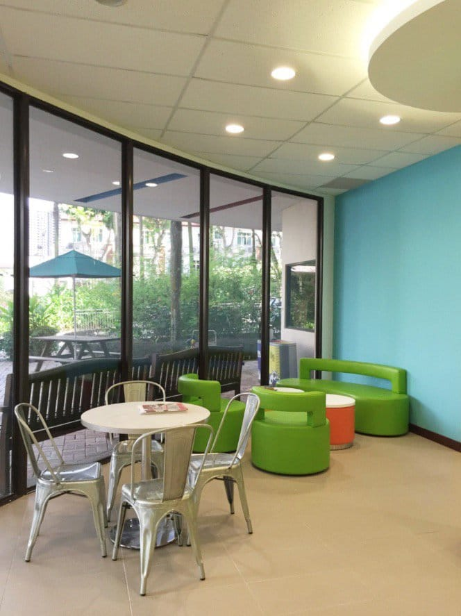 Singapore American School – Woodlands | Product Seen: [Aspire 1–Seater Sofa, Aspire 3–Seater Sofa, Aspire Side Table &amp; Dojo Sidechair - Steel Seat]<br />