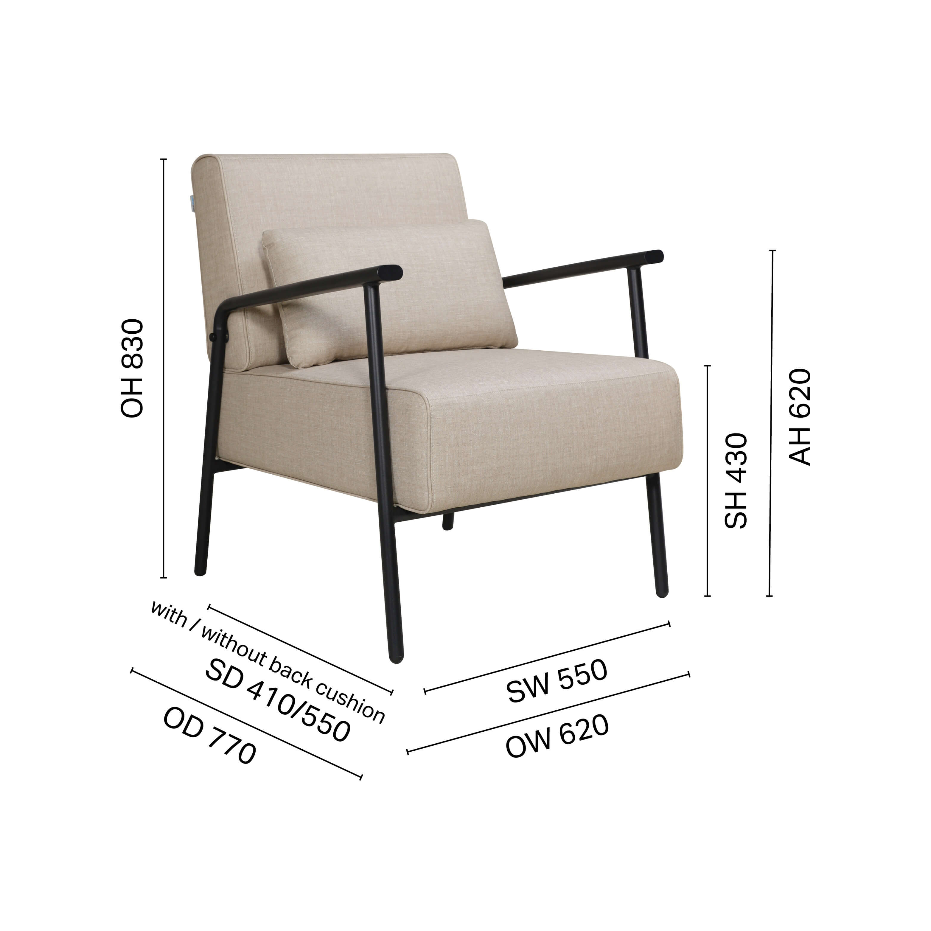 Atkin 1–Seater Sofa