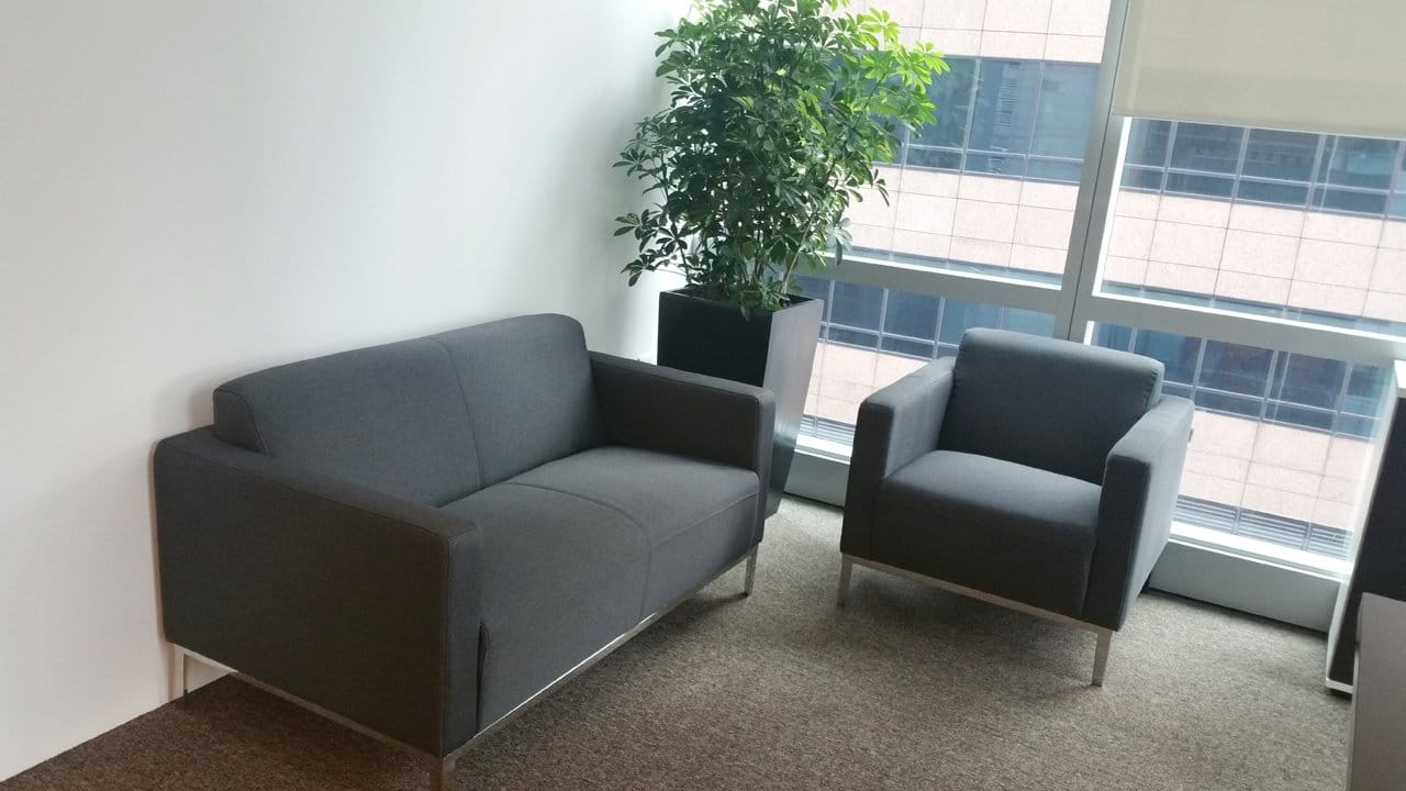 Office - Market Street | Product Seen: [Camellia 1 & 2 Seater in Vibrant Grey Fabric]<br />