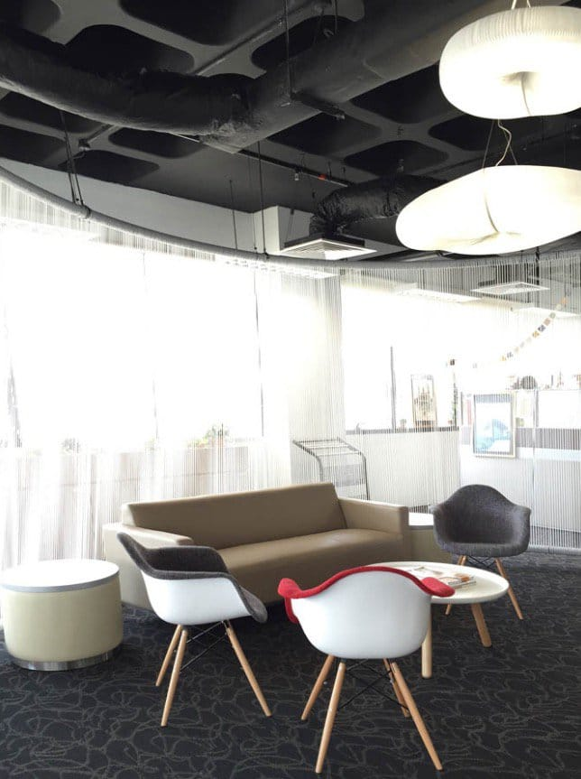 Ngee Ann Polytechnic | Products seen: [Gum – Half Fabric + Tower Armchair, Aspire Side Table, Camellia 3–Seater Sofa & Lucy Coffee Table – Big]<br />