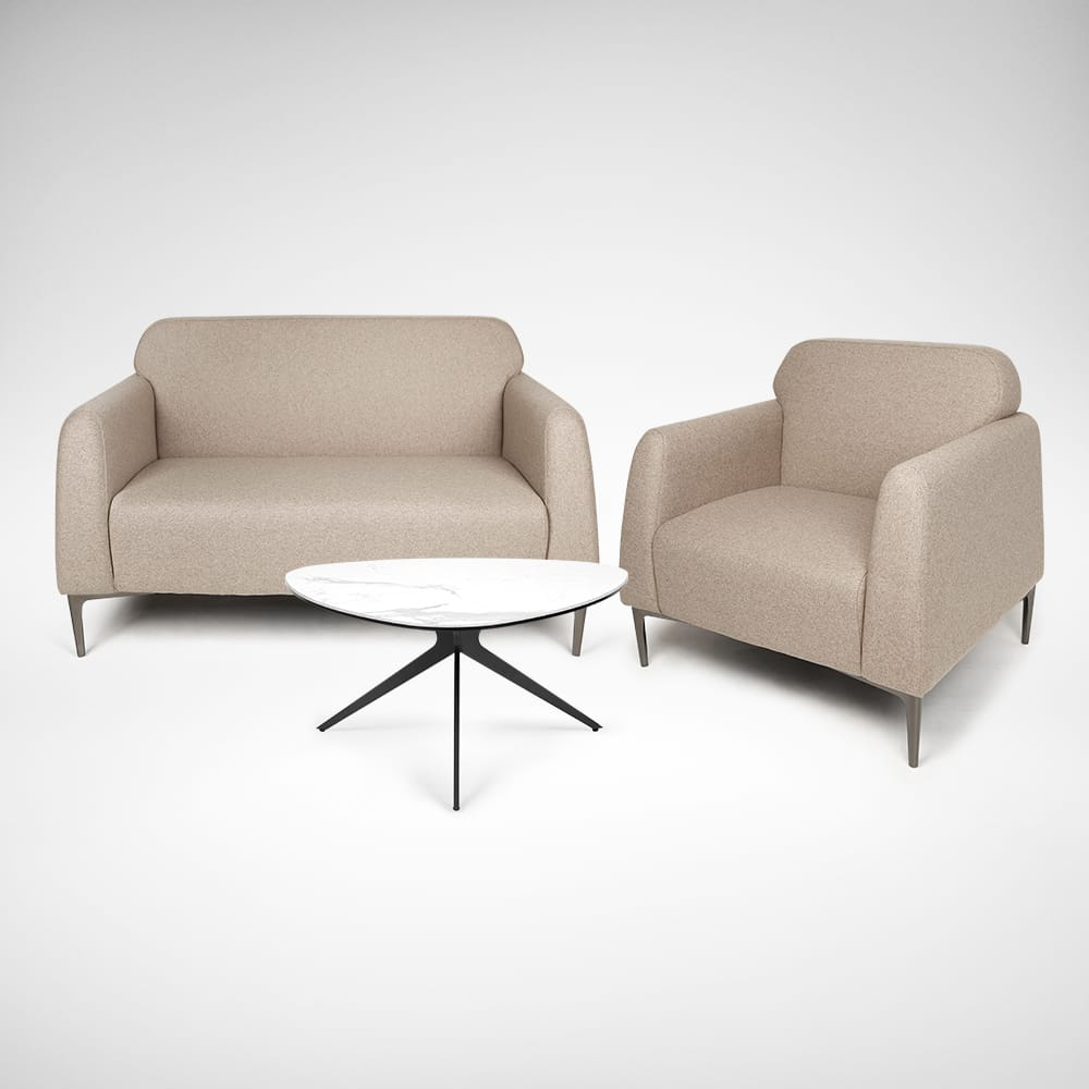 [Deegan 2–Seater Sofa, Deegan 1–Seater Sofa & Molten Coffee Table]<br />