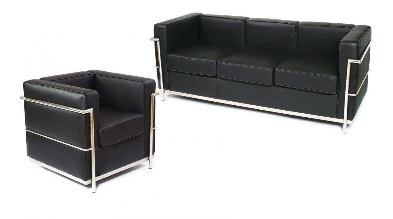 Corbusier Stoel Replica : Le corbusier replica u seater sofa comfort design the chair