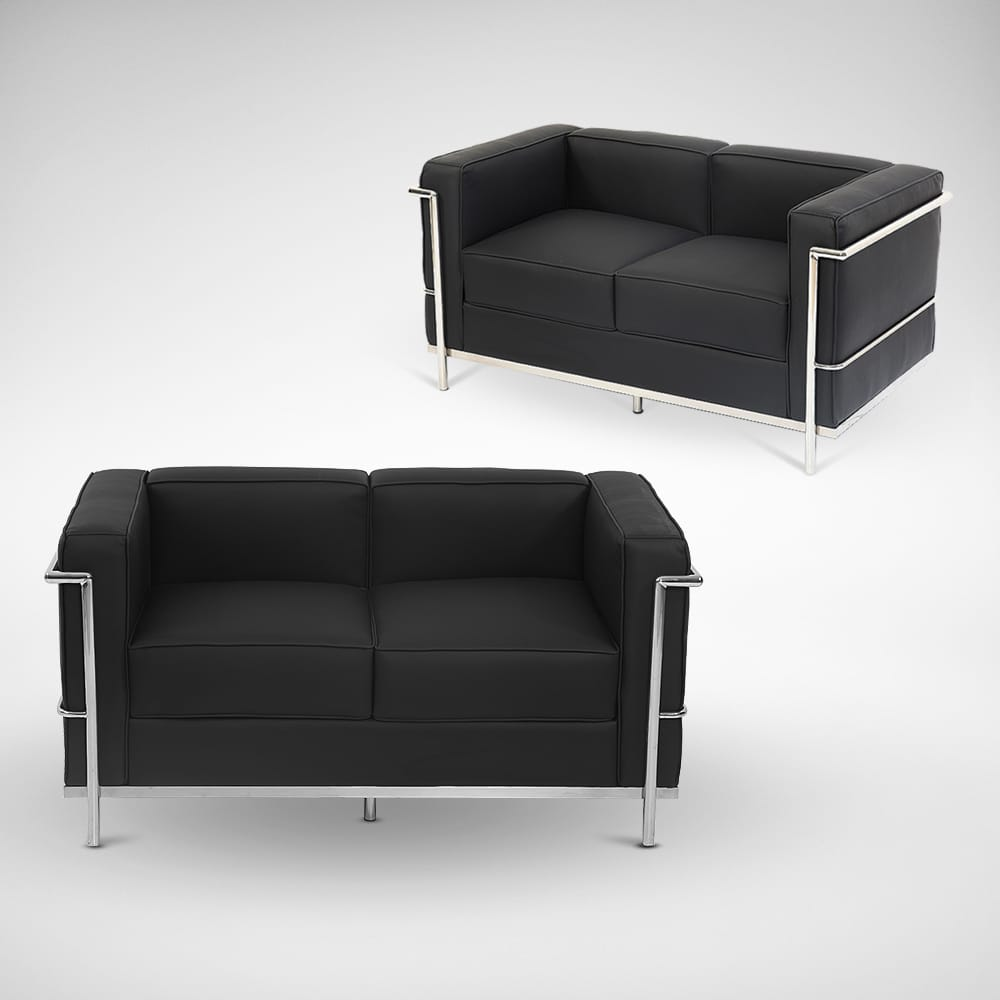 Le corbusier replica 2 seater sofa comfort design for Le corbusier replica
