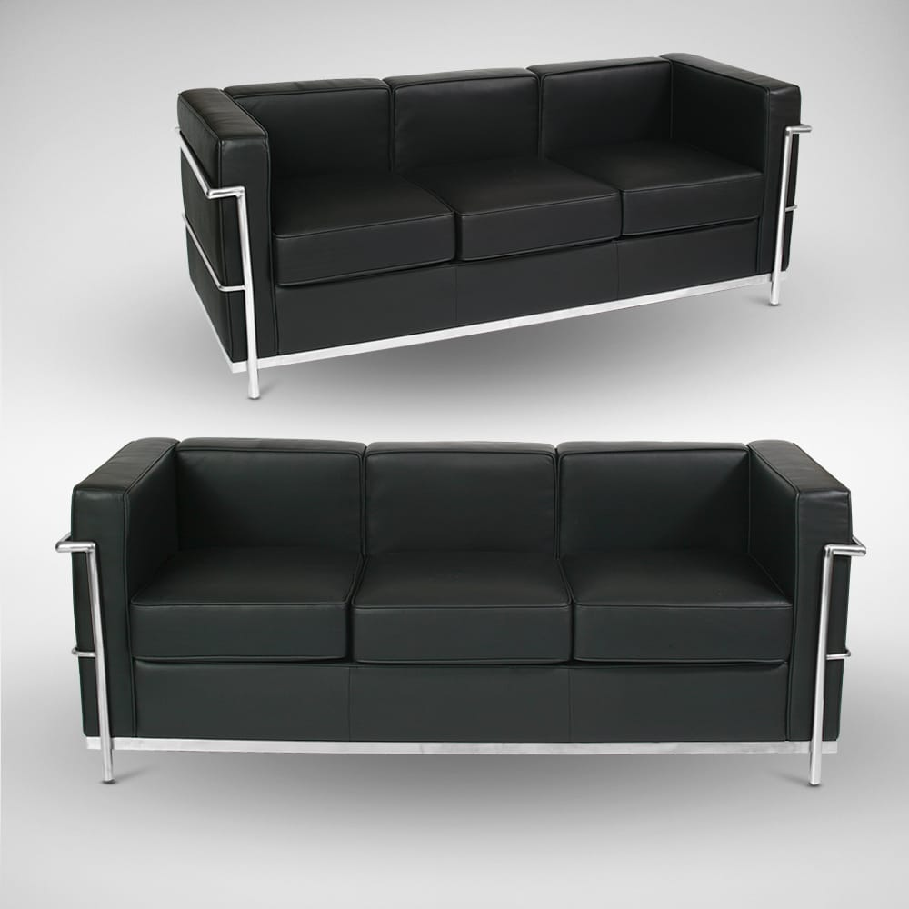 Le corbusier replica 3 seater sofa comfort design for Le corbusier replica