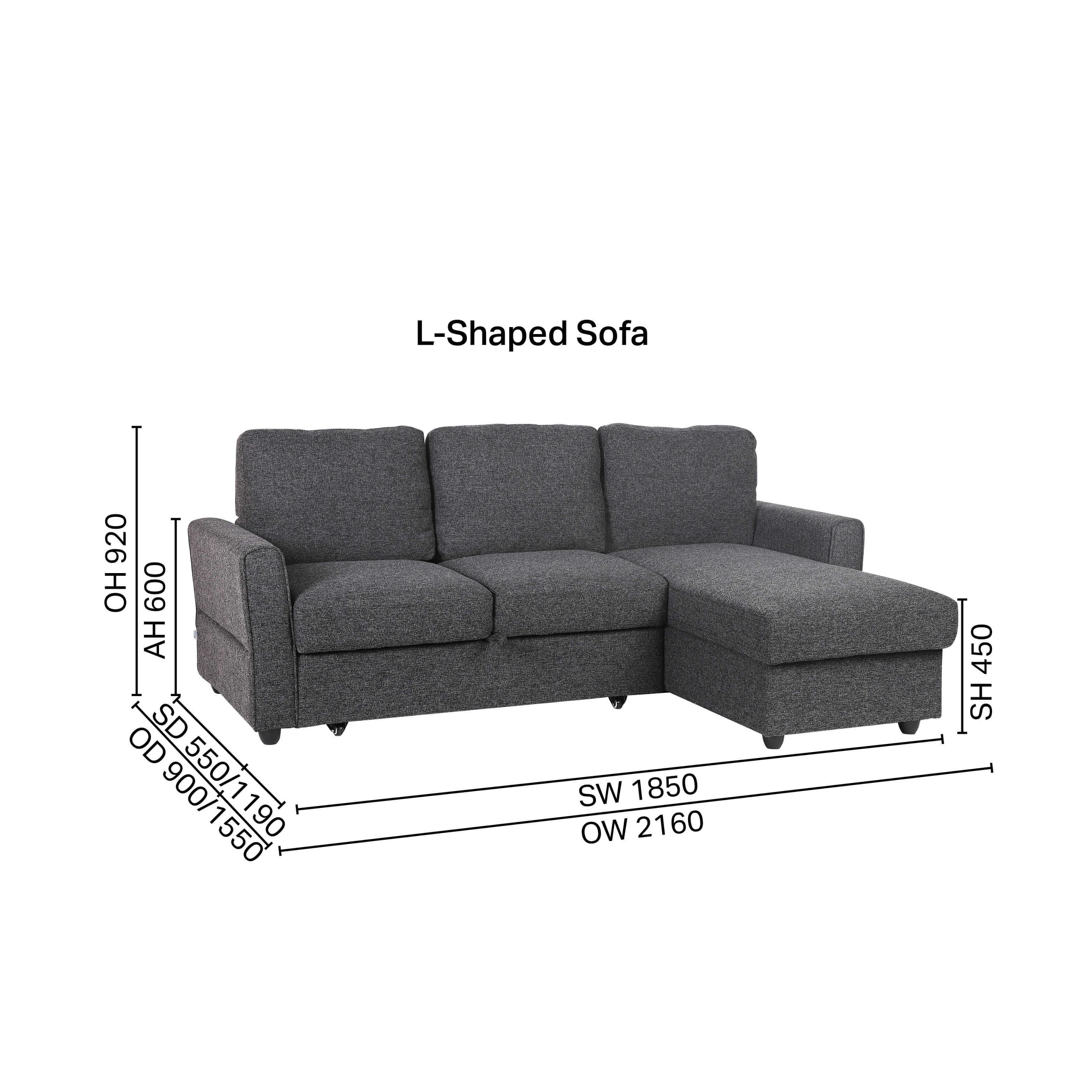 Leonard L-Shaped Sofa / Sofabed / Storage