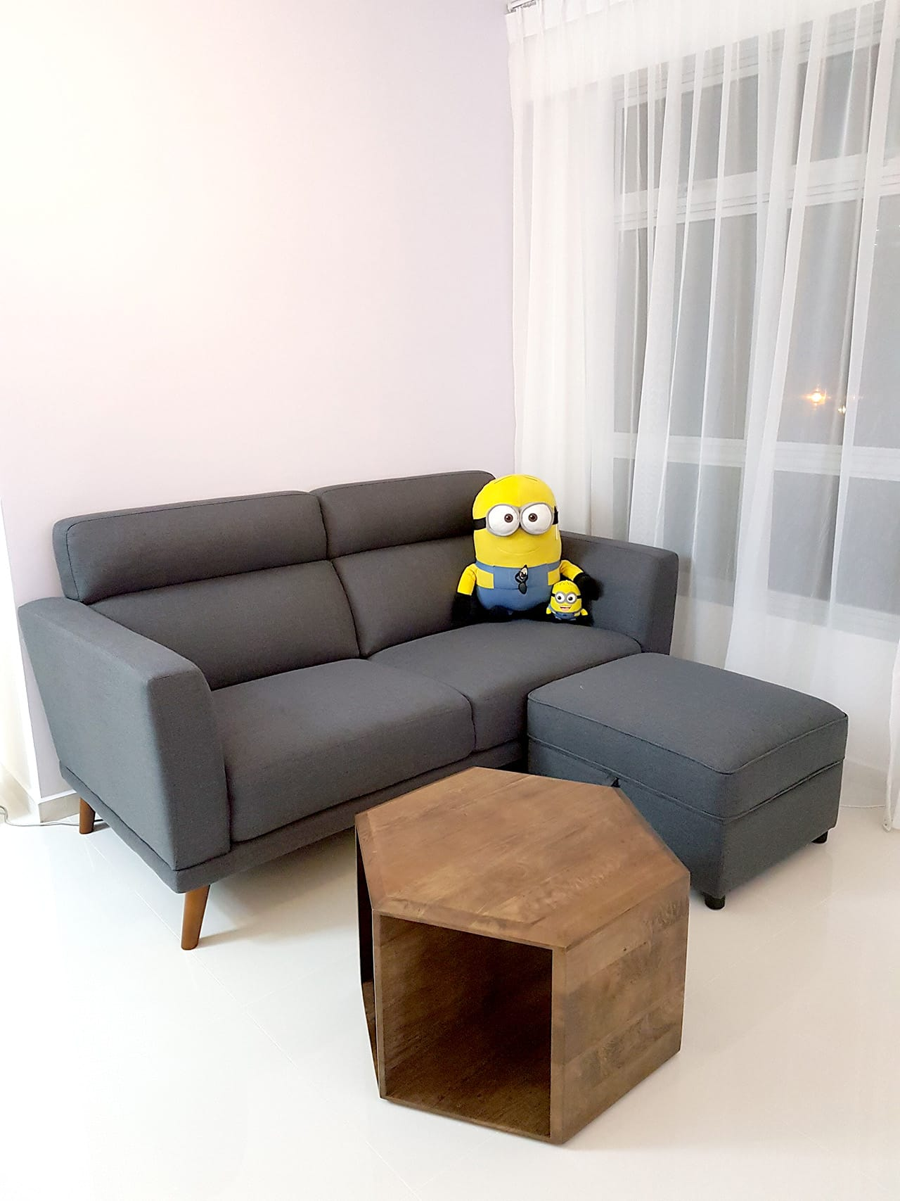Apartment - Bukit Batok | Product Seen: [Neuron 2.5 Seater Sofa, Treasure Ottoman (Storage) & Mosaic Coffee Table]