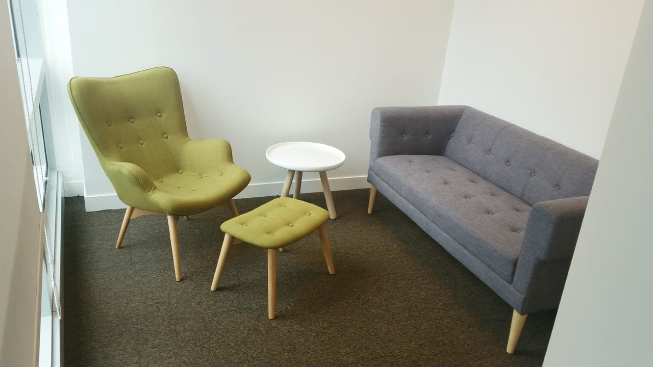 Office - Market Street | Products Seen: [Sonia 2.5 Seater Sofa, Brandy Lounge Set &amp; Lucy Coffee Table – Small]<br />