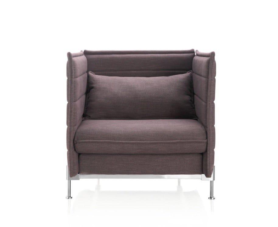 Enclosed 1 Seater Sofa Midback Comfort Design The