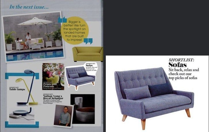 [Ichiyo 2 Seater] as featured in Lookbox Living Issue#32