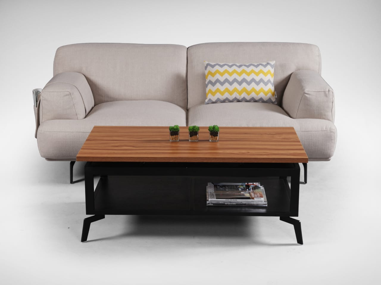 Elegant Coffee Table that Pulls Up to Couch