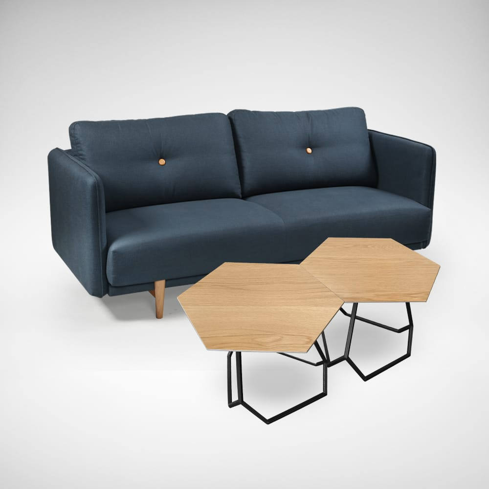 [Form Coffee Table &amp; Bruffon 3–Seater Sofa]<br />