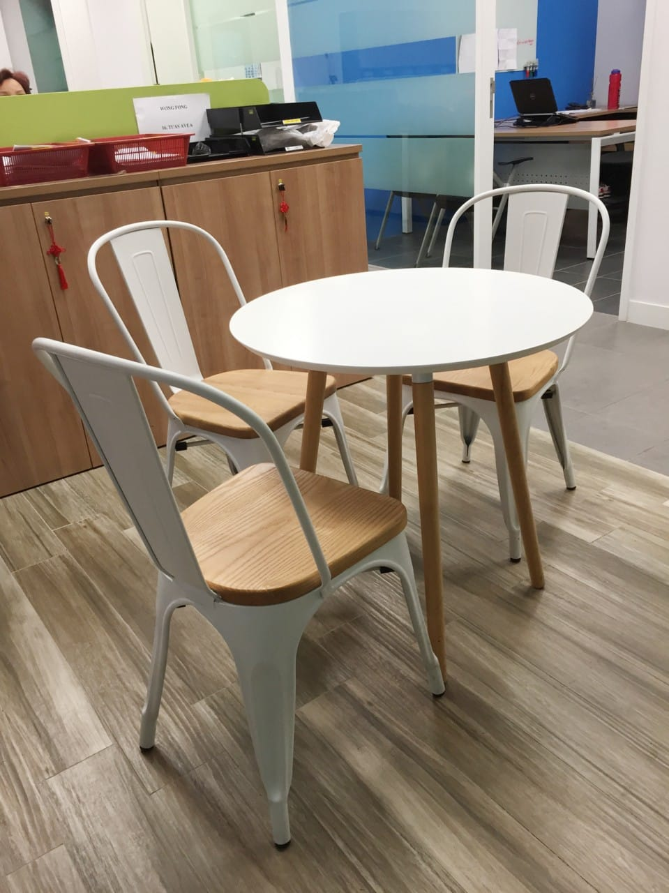 Wong Fong Engineering Works Pte Ltd - 79 Joo Koon Circle | Product Seen: [Dojo Sidechair – Wood Seat & Attract Dining Table - Round 700]<br />