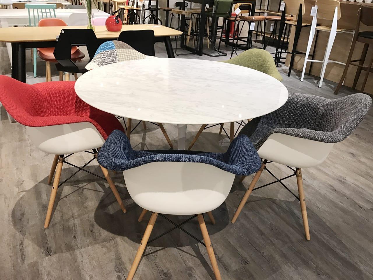 Tulip Dining Table Round Marble replica – Dia900