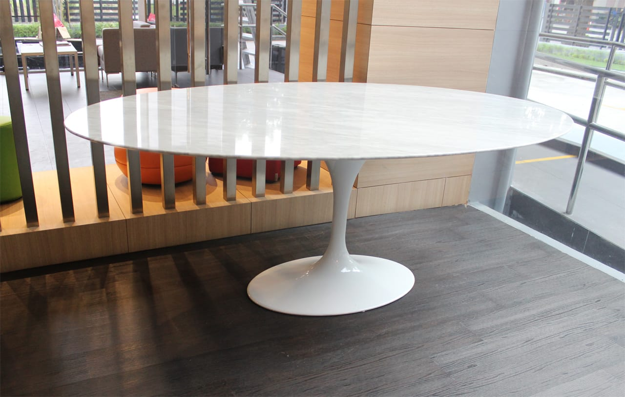 ... Tulip Dining Table U2013 Oval Marble (replica) U2013 W1600