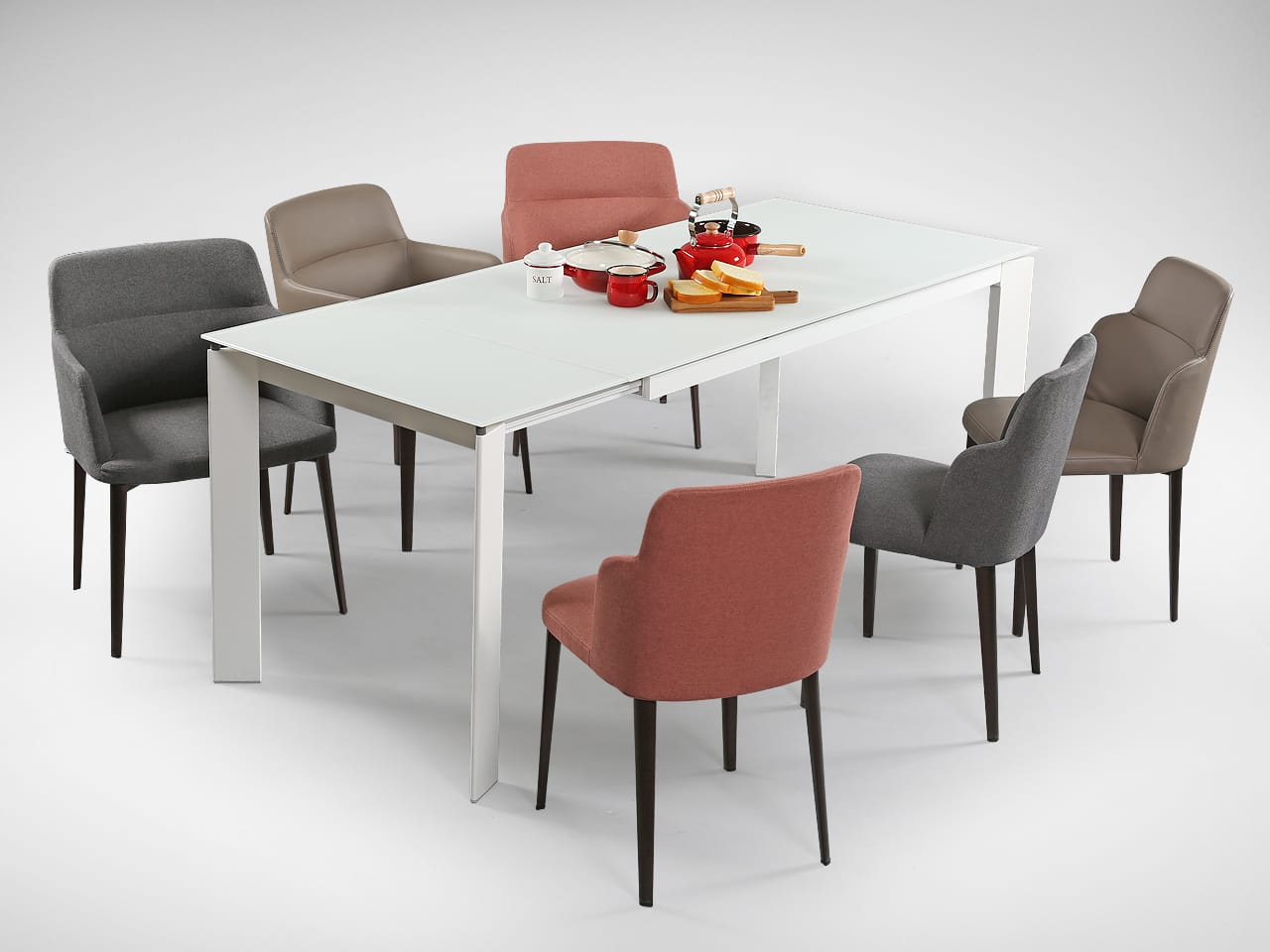 Lovely Extendable Glass Dining Table