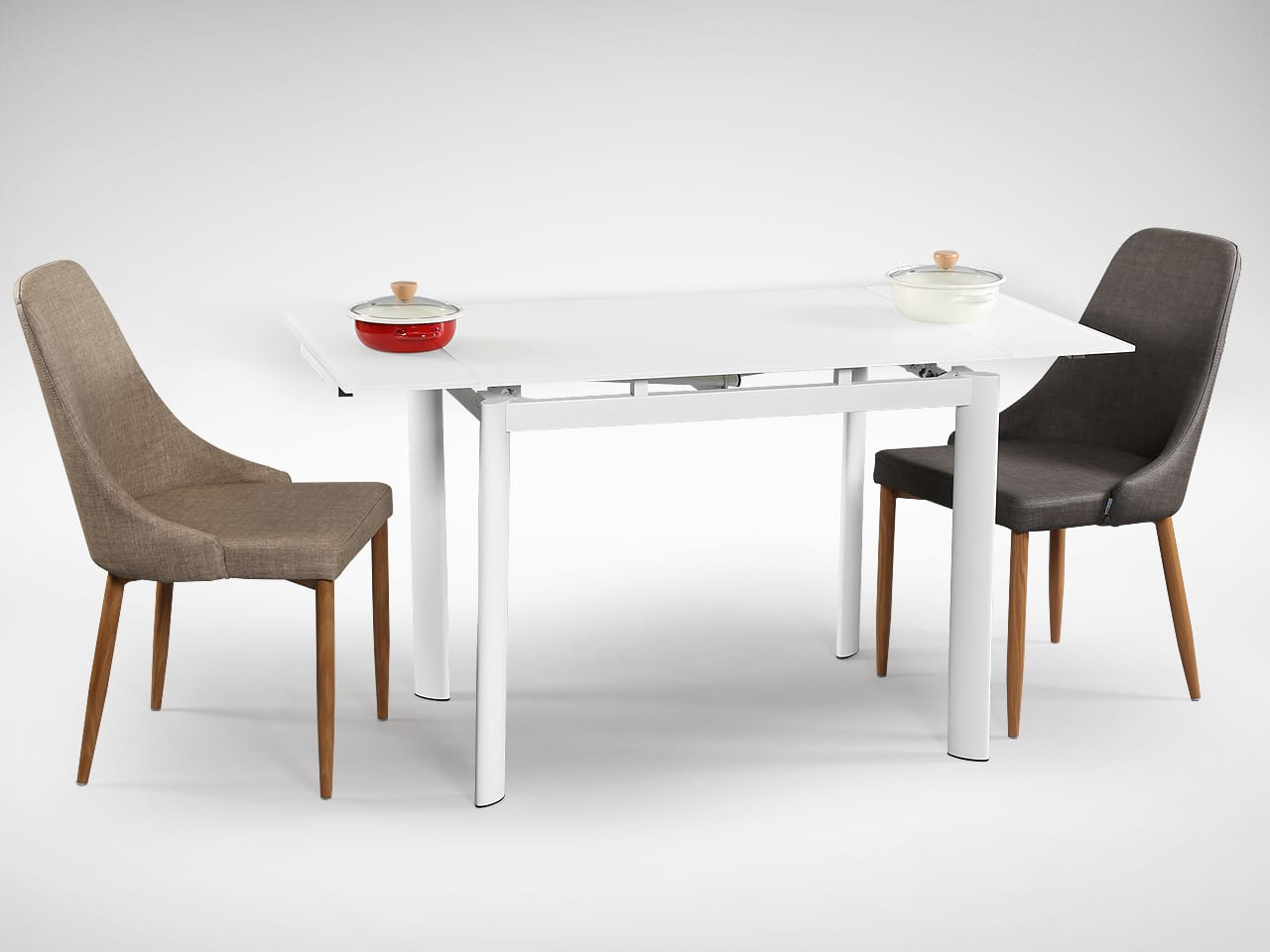 [Vovo Extendable Table & Beatrice Sidechair