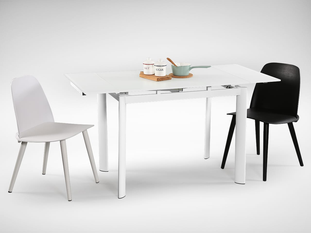 [Vovo Extendable Table & Troy Chair]