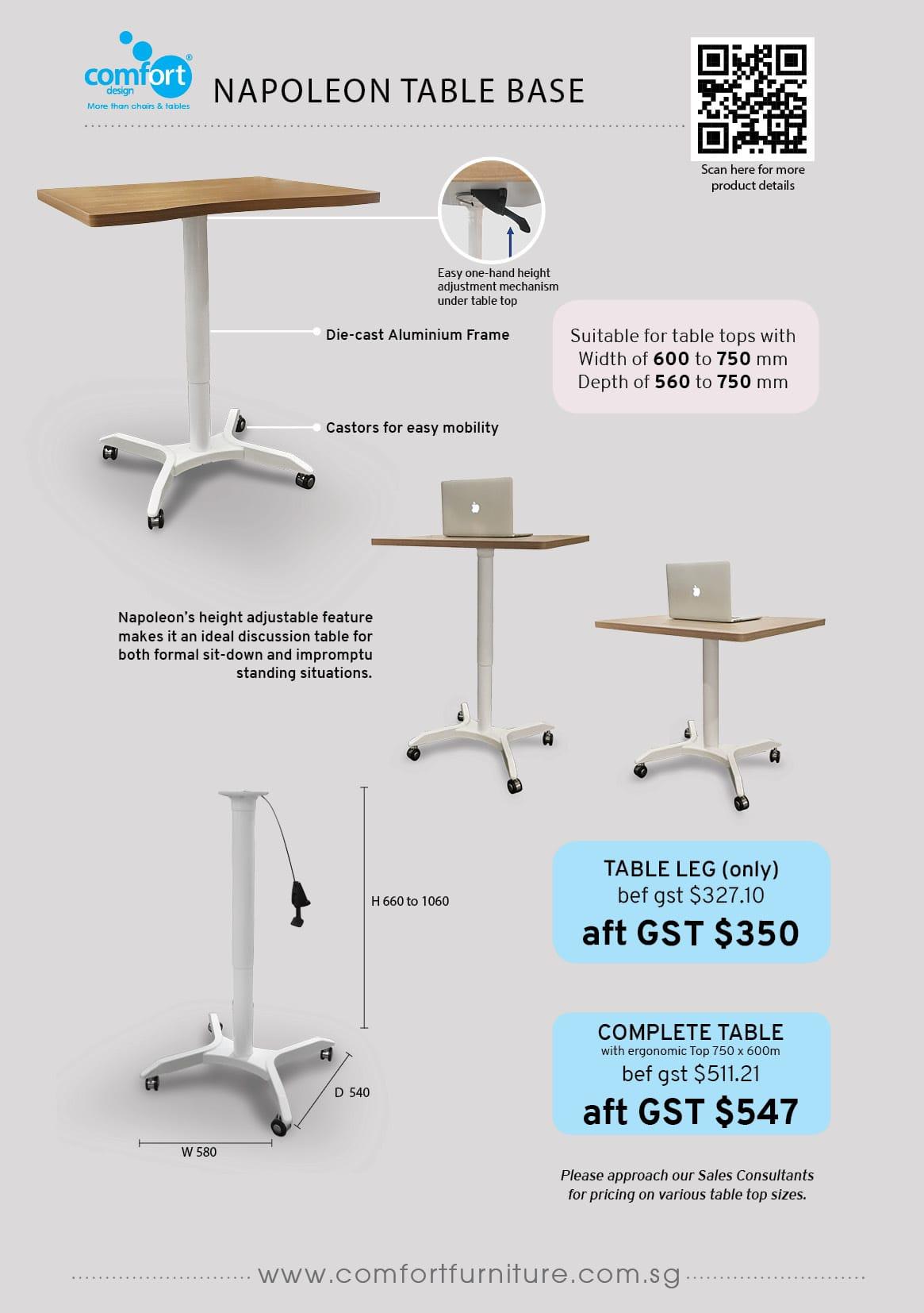 Elegant Hydraulic Adjustable Table Legs