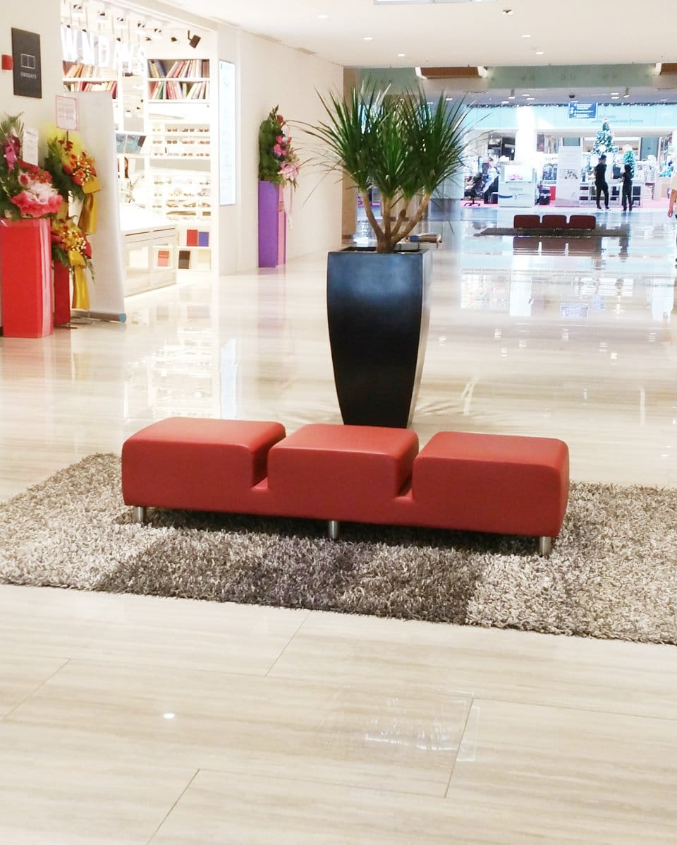 Central Atrium - Marina Square | Product Seen: [Colette Bench]<br />