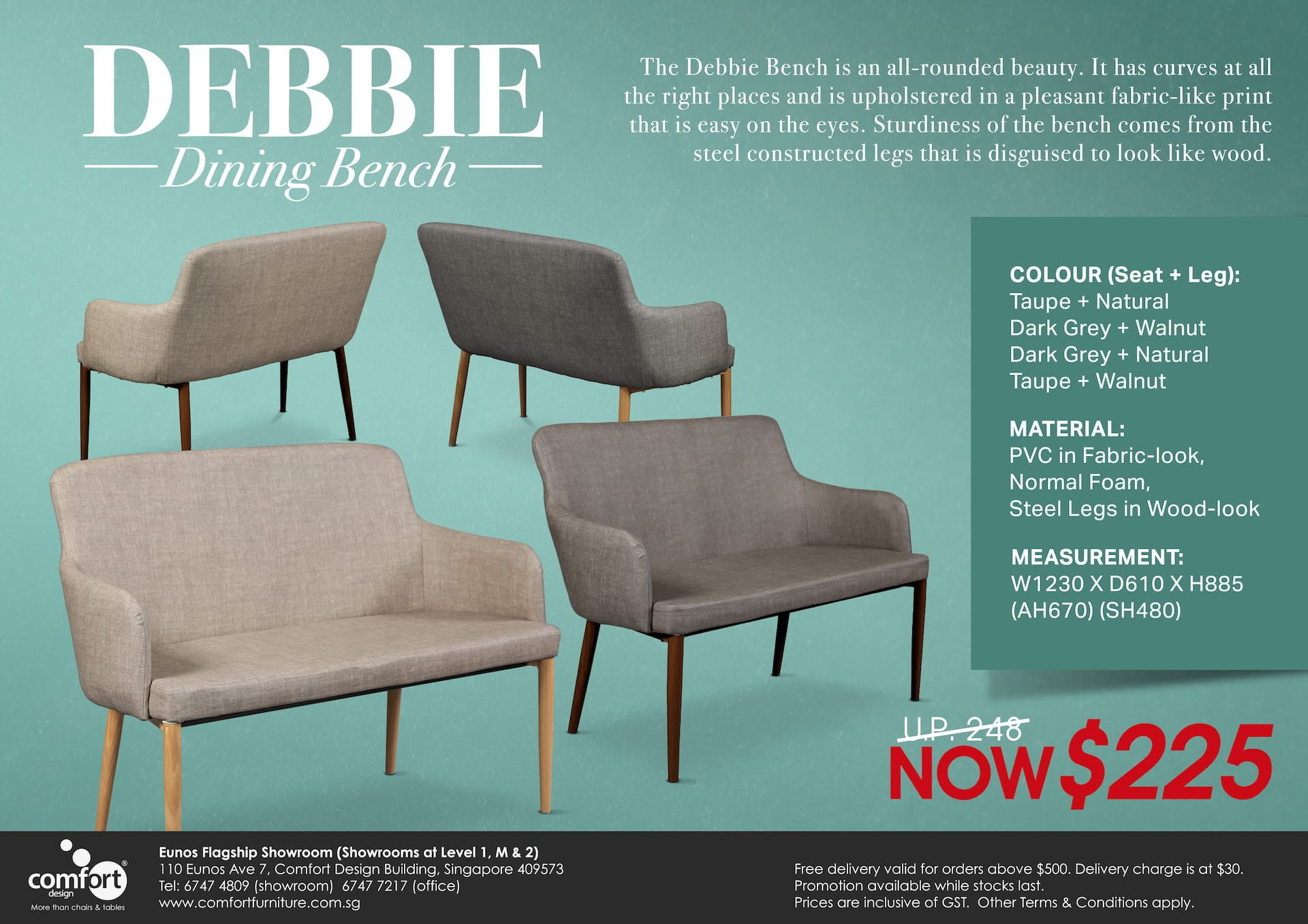 Debbie Dining Bench