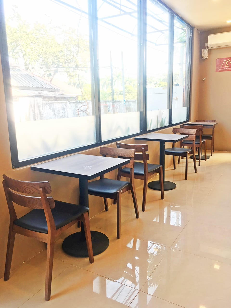 M Hospitality & Tourism Institute, Kamayut Township - Yangon, Myanmar | Product Seen: [Lisbon Chair & Customised Laminate Tabletop + Cosson Table Base]