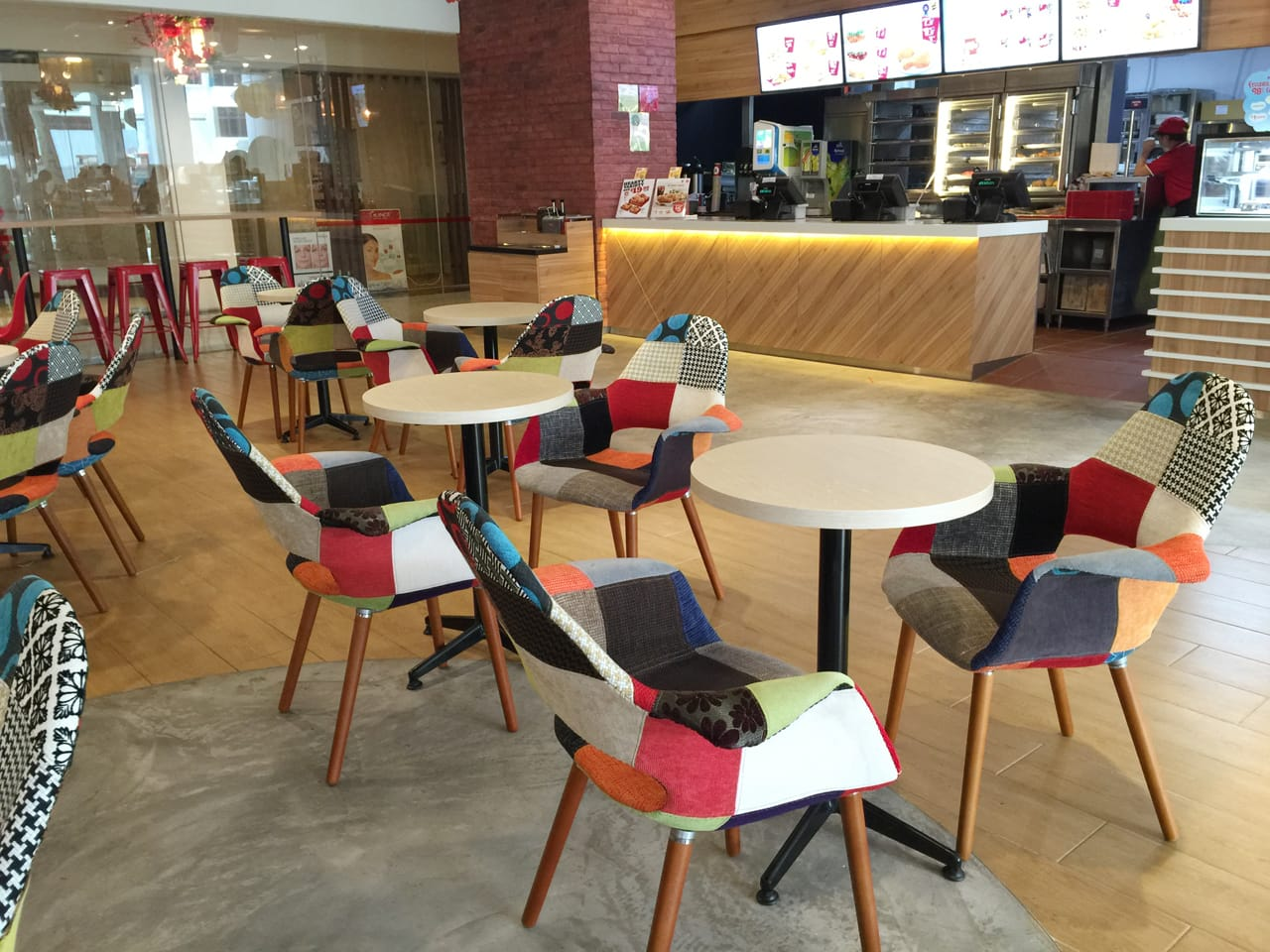 KFC @ Valley Point | Product Seen:  [Sakai – Patch Armchair]