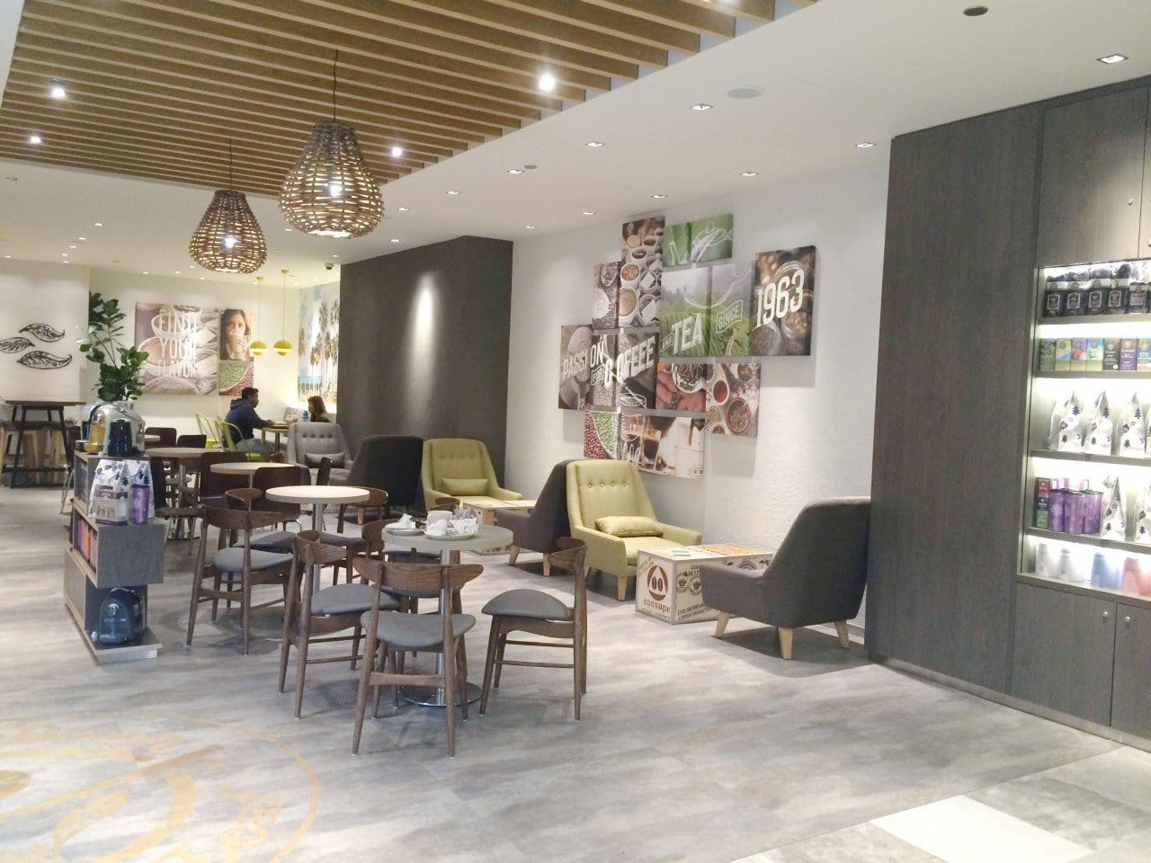 Coffee Bean - Alexandra Retail Centre (ARC) | Products Seen: [Hanoi Chair, Shannon Barchair – Lowback, Ichiyo 1-Seater Sofa & Customised Laminated Tabletop with Traxtor Round Table Base]