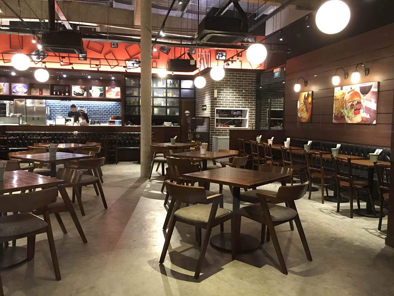St Marc Cafe - East Coast Park | Products Seen: [Kopitiam – Wenge Chair & Frankfurt Armchair & Customised Booth Seats]<br />