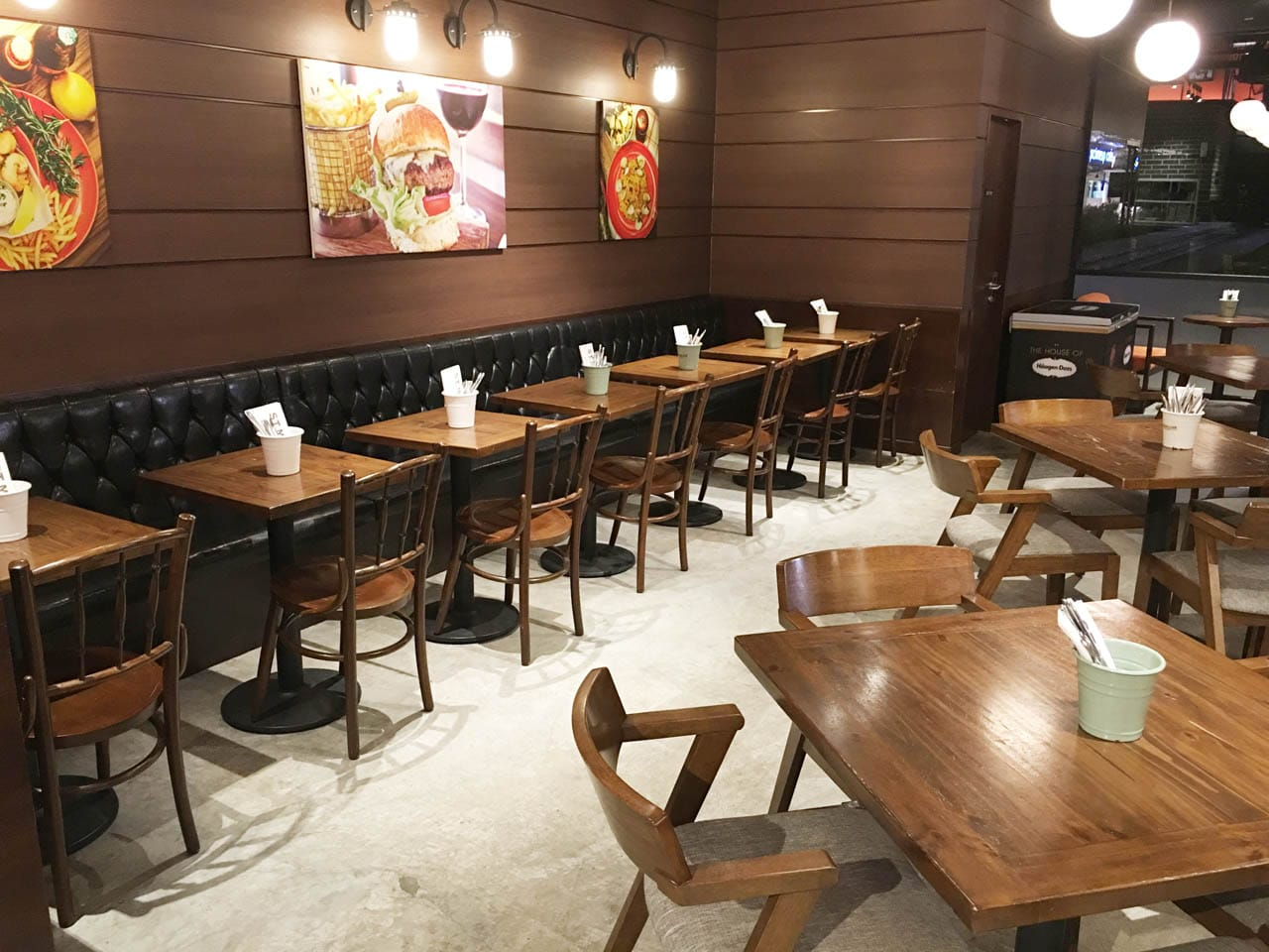 St Marc Cafe - East Coast Park | Products Seen: [Kopitiam – Wenge Chair & Frankfurt Armchair & Customised Booth Seats]