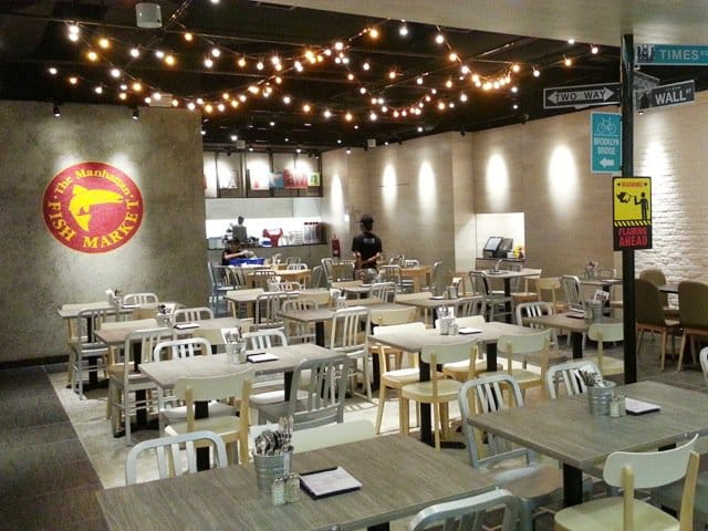 Manhattan Fish Market - Suntec City | Products seen: [Farm-1 Chair, Native Side Chair in Aluminium & Table in Laminate Top and Filo 427 Base]