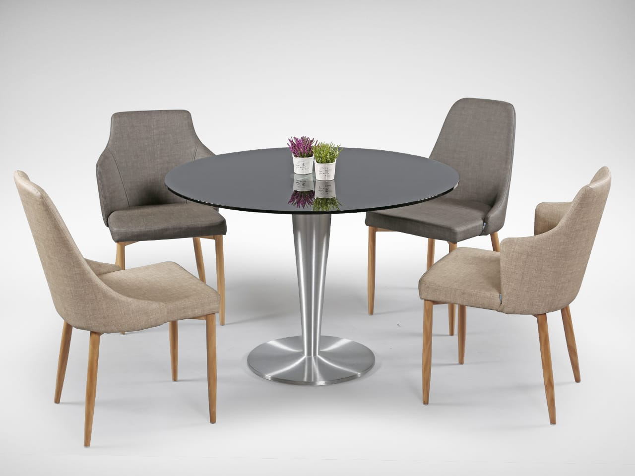 [Beatrice Sidechair, Arnott Dining Table & Corine Armchair]