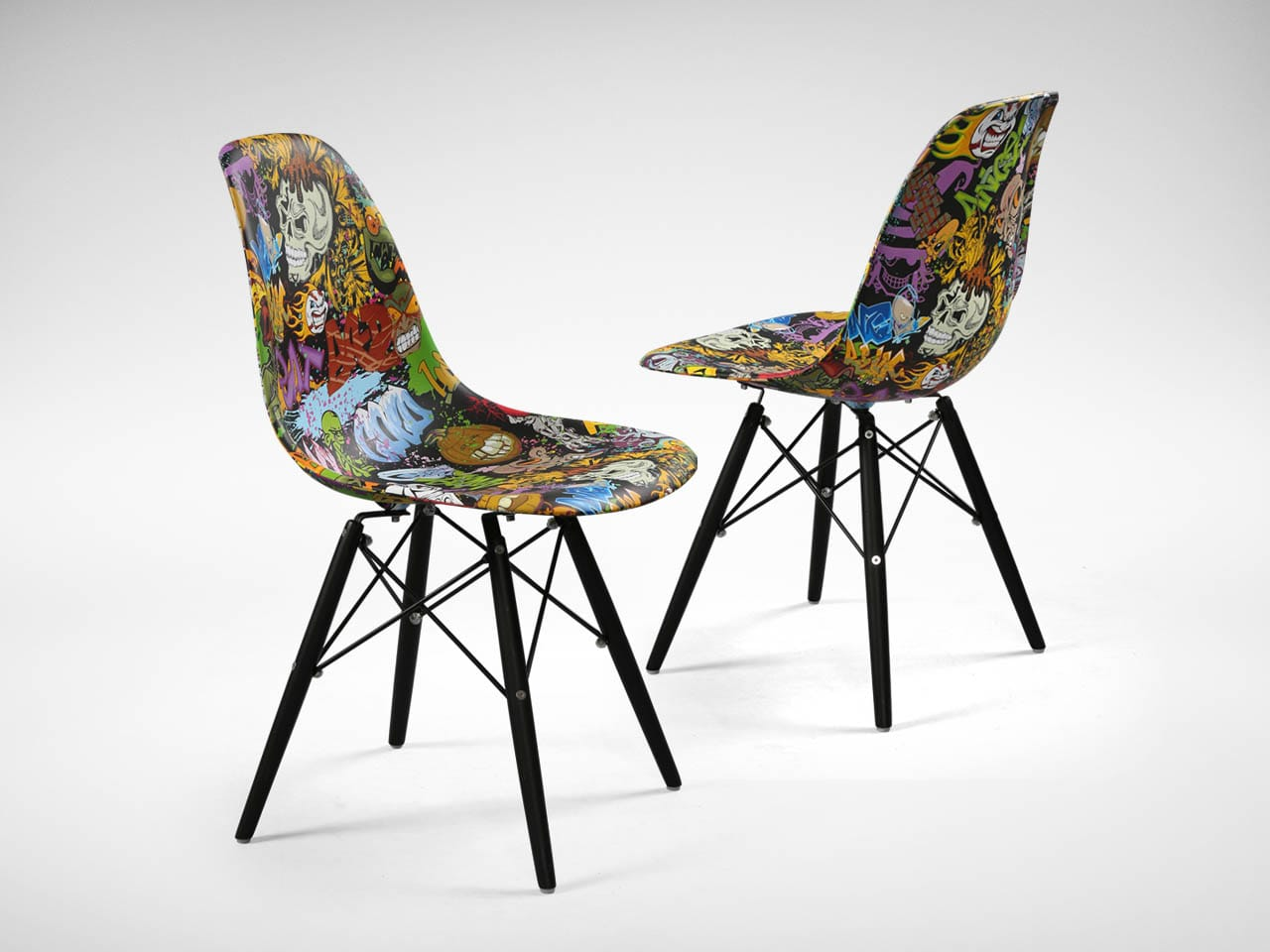 Argo Graffiti Black Tower Chair Comfort Design The