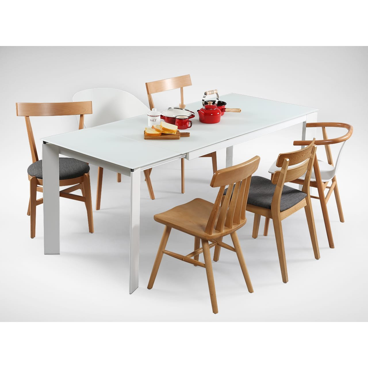 Kamada Extendable Dining Table W1500 1900 White