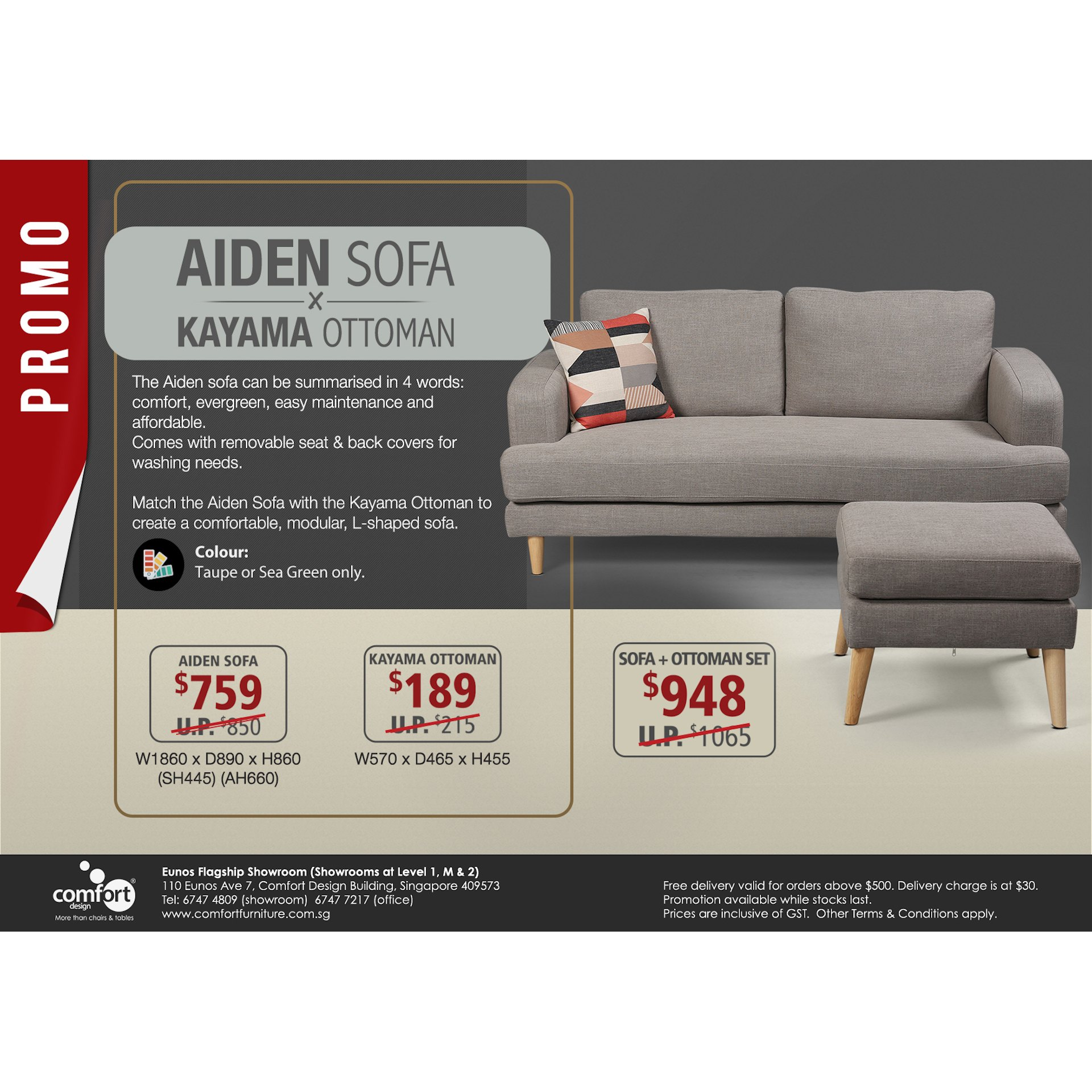 Aiden 3 Seater Sofa Comfort Design The Chair Table People