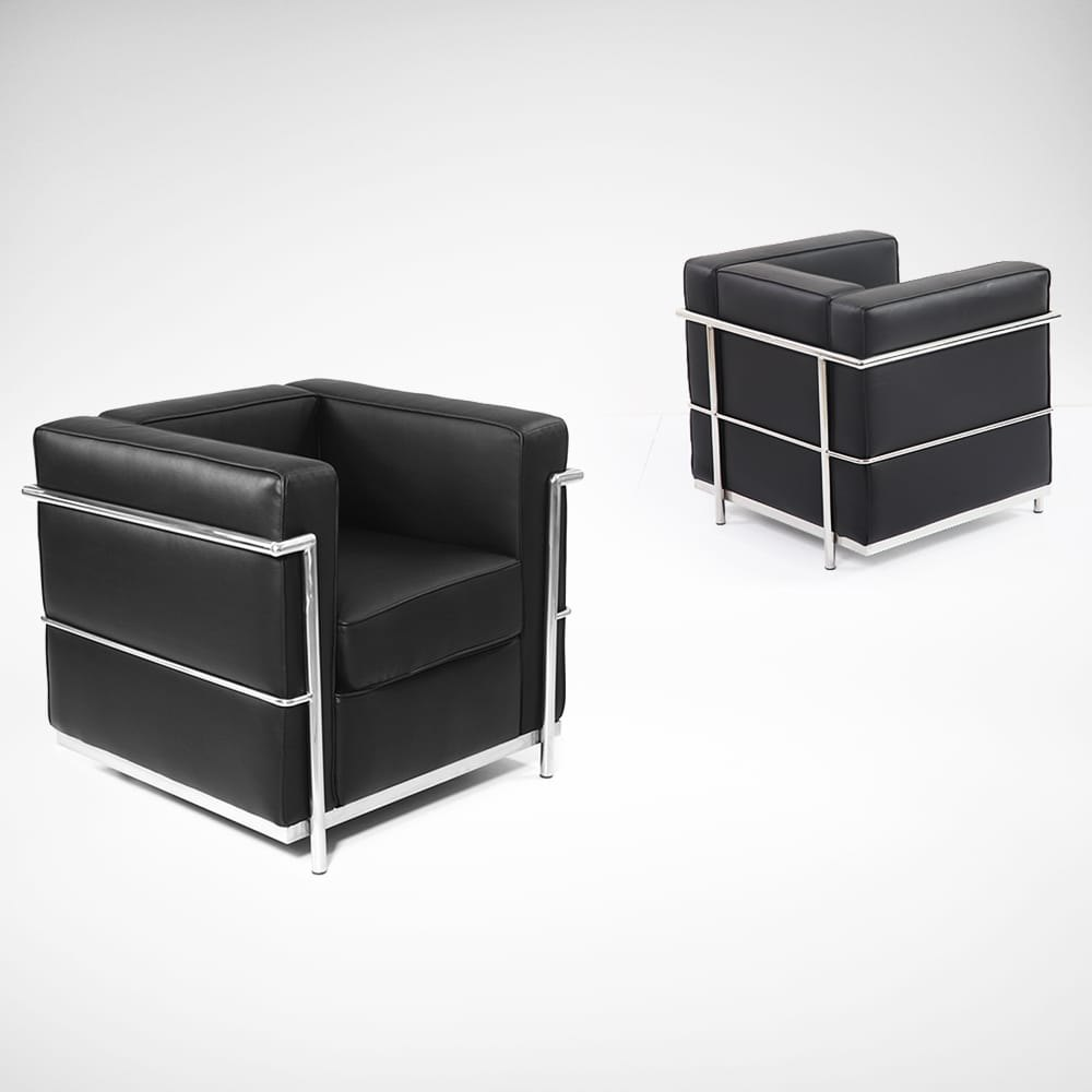 le corbusier replica 1 seater sofa comfort design. Black Bedroom Furniture Sets. Home Design Ideas