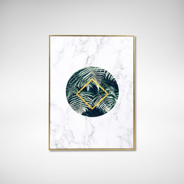 Poster - Botanical x Marble #2