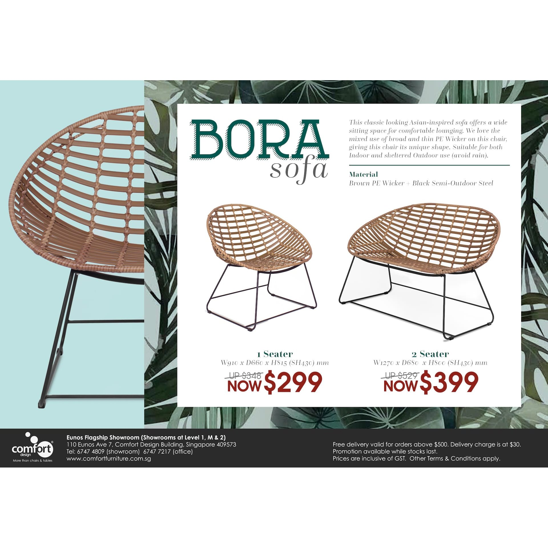 Bora Outdoor 2 Seater Sofa Comfort Design The Chair Table People