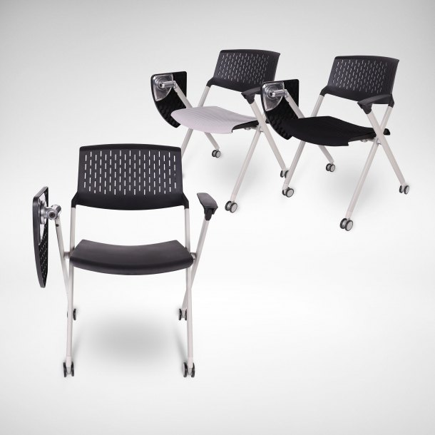 Dylan Tablet Armchair w/ Castors (Nestable)