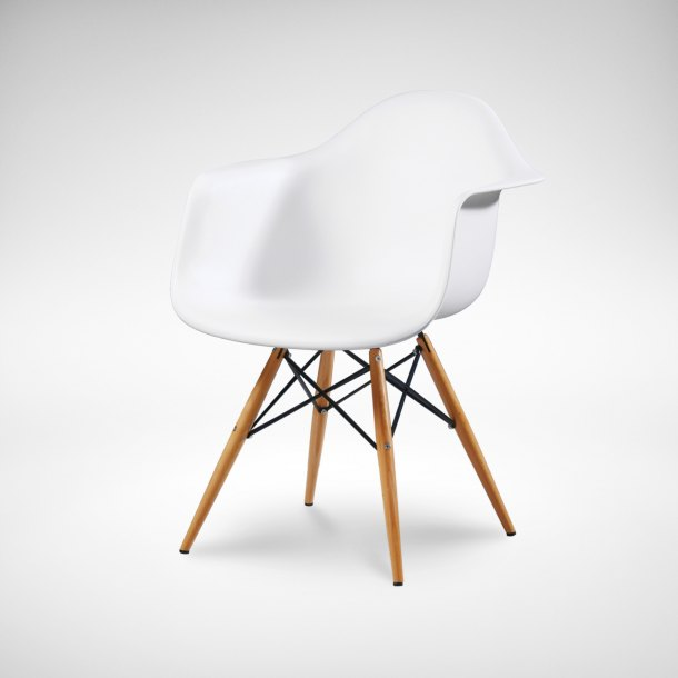PWP: Gum – PP + Tower Arm chair (White)