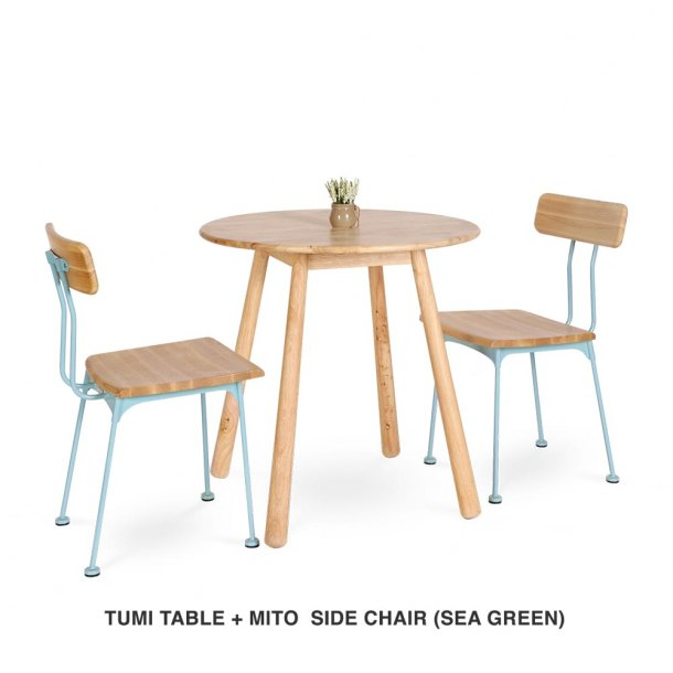 Tumi Round Table + Mito Chair (Sea Green)
