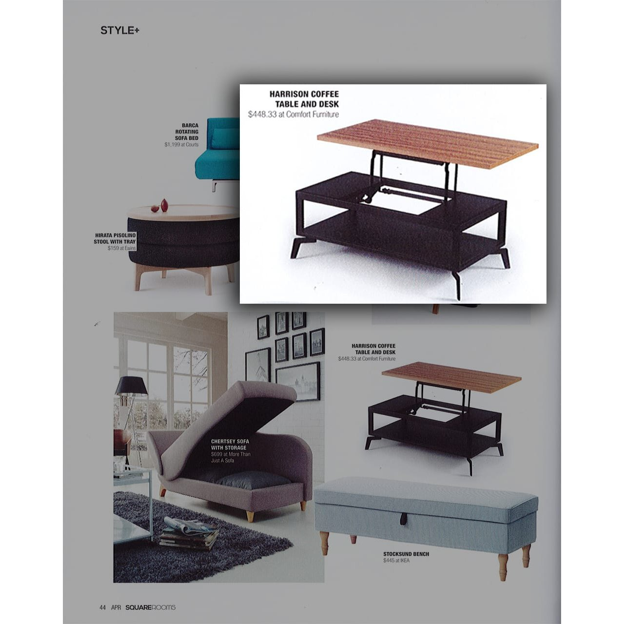 Harrison Coffee Table Dining Table Convertible V2