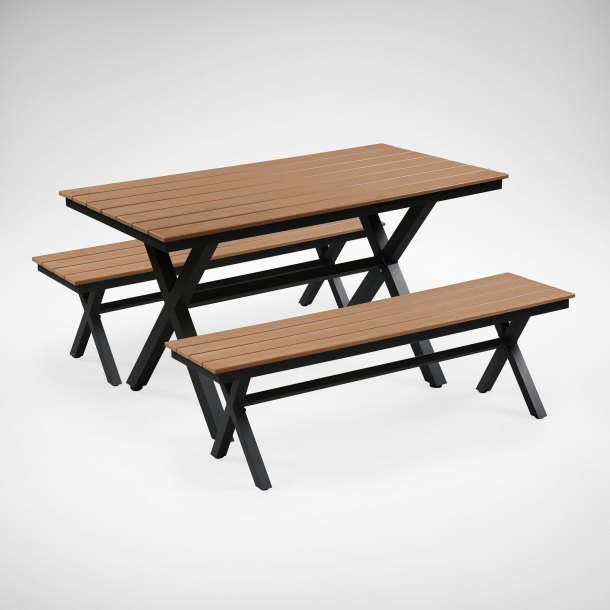 Fossil Rect Outdoor Dining Table - Bundle 1